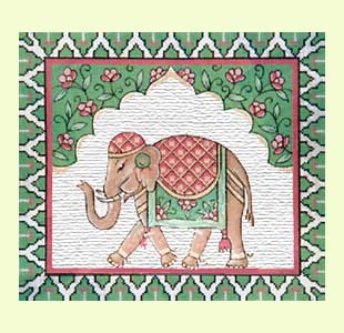 Elephant needlepoint