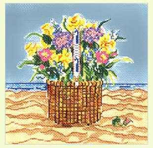 Basket with Flowers design