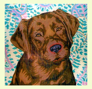 Chocolate Labrador design