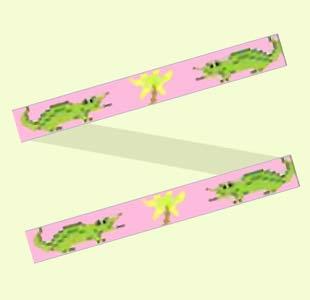 Alligators on Pink design