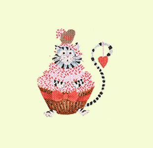 Cat Valentine Cupcake design