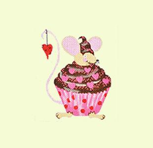 Mouse Valentine Cupcake design