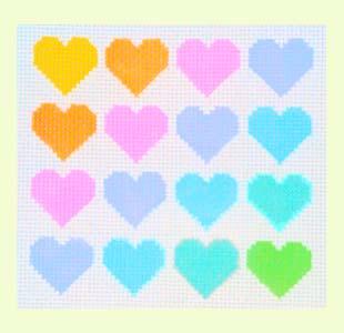 Pastel Hearts design