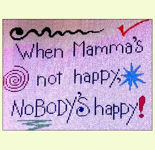 Mamma's Not Happy design