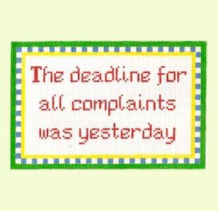 Complaints design