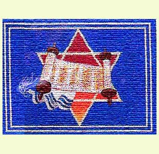 Star of David with Torah design
