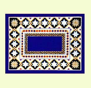 Star and Gems Navy Tallis design