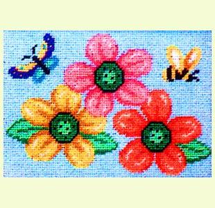 Flower-Butterfly-Bee design