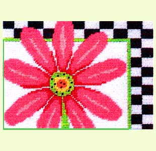 Pink Daisy and Checks design