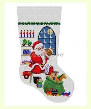 Santa In front of Window design
