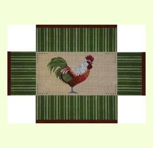 Green and Rust Rooster design