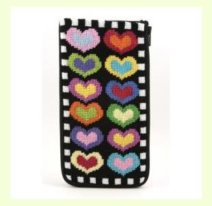 Hearts on Black design