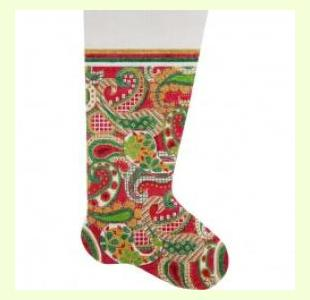 PAISLEY STOCKING design