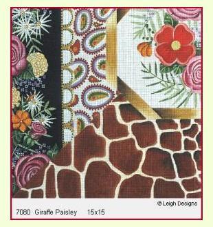 Giraffe Paisley design
