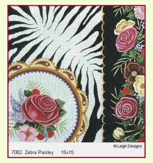 Zebra Paisley design