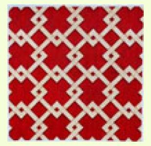 Camel Red Diagonal Lattice design