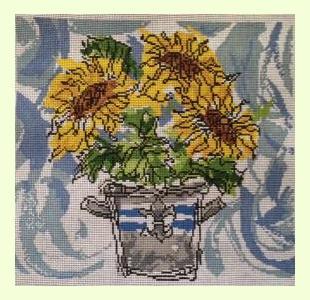 Watercolor Sunflowers design