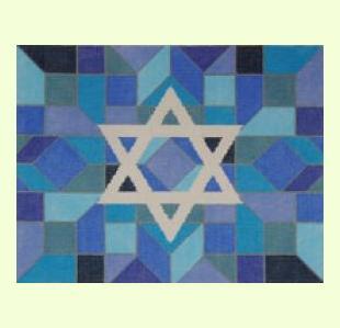 Center-Star-Blue design