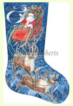 Santa Flying Through the Stars design