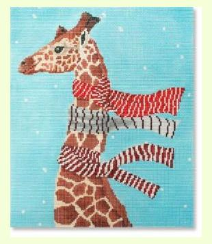 Giraffe-with-Scarves design