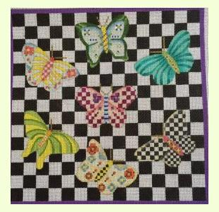 Fantasy Butterfly Square design