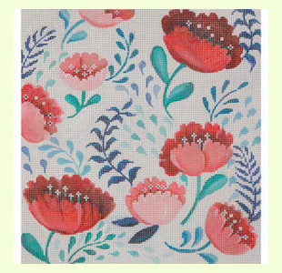 Red and Pink Tulips design