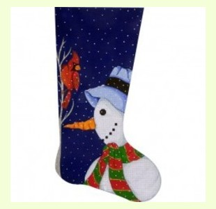 Snowman-Stocking design