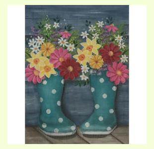 Rainboots-and-Flowers design