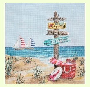 Beach-With-Signs design