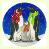 Three Penguins Ornament