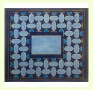 Blue Geometric I design