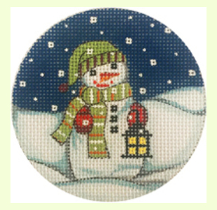 Snowman with Lantern Ornament design