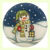 Snowman with Lantern Ornament
