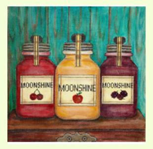 Moonshine-Jars design