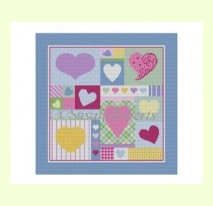 HEART-PATCHWORK design