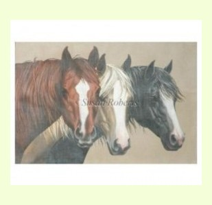 Three-Blaze-Horses design