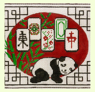 Resting-Panda-Mah-Jongg design