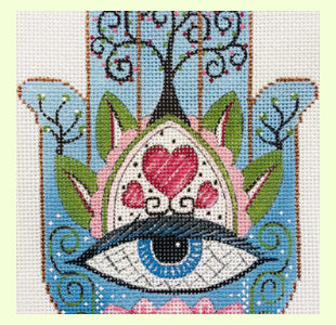 Hamsa Eye in Blue design