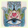 Hamsa Eye in Blue