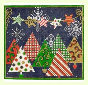 Patterned Christmas Trees design