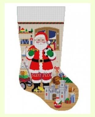 Santa with Castle Boys Toys design
