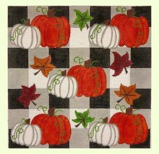Pumpkins-on-Checks design