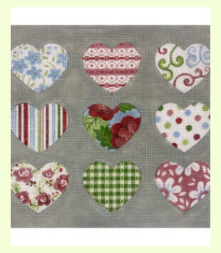 Patterned-Hearts-on.-Gray design