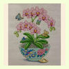 Pink Orchids in Vase