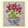 Fuchsia Orchids in Vase