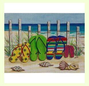 Flip-flops-on-The-Beach design